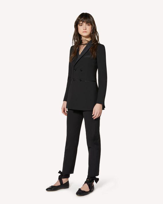 REDValentino 礼服细节羊毛粘胶混纺华达呢夹克