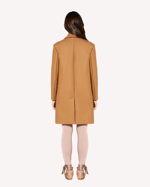 REDValentino 羊毛羊绒混纺厚呢大衣