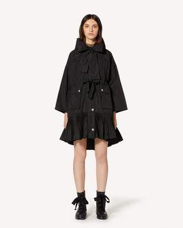 REDValentino 褶裥细节塔夫绸卡班大衣