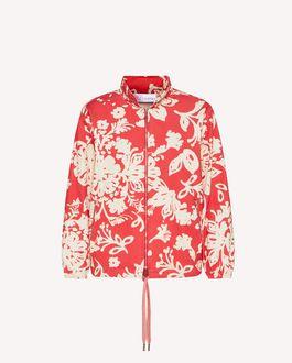 REDValentino Graphic Flora 印纹棉质帆布卡班大衣