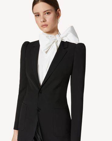 REDValentino 粘胶羊毛混纺华达呢夹克
