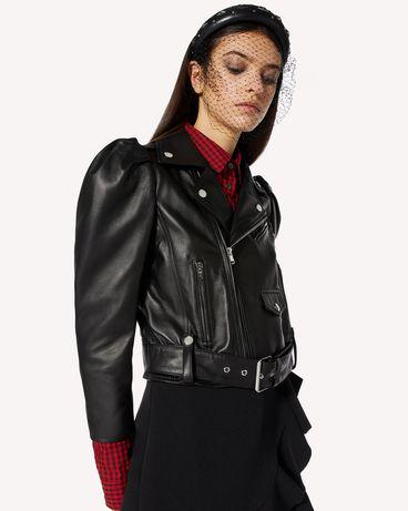 REDValentino 皮革机车夹克