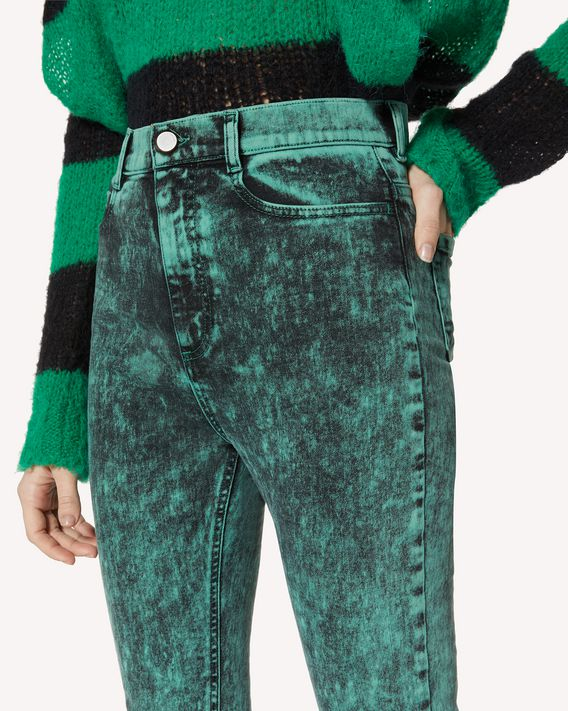 REDValentino 大理石纹牛仔裤