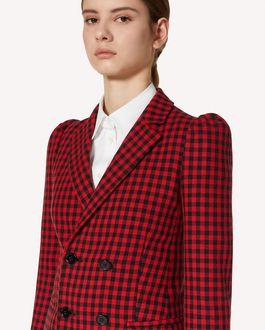 REDValentino Vichy 格纹双排扣夹克