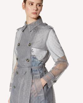REDValentino 细点网眼薄纱风衣
