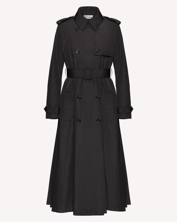 REDValentino 背面褶裥细节尼龙风衣