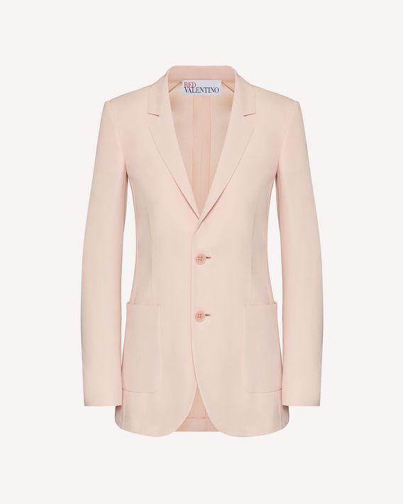 REDValentino 缎背绉绸夹克