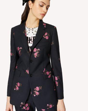REDValentino 花卉提花华达呢夹克