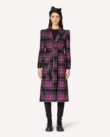 REDValentino 羊毛窗格纹大衣