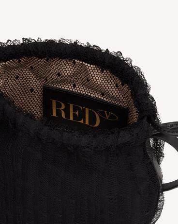 REDValentino PLEATE(RED) 桶型包