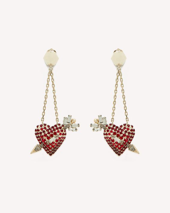 REDValentino HEART ARROW 耳环