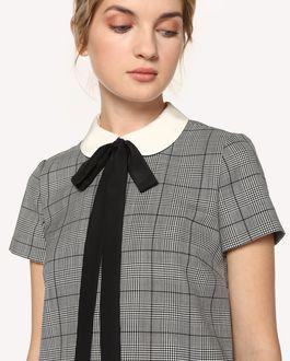 REDValentino 线上独家发售  威尔士亲王格纹与蝴蝶结装饰连衣裙
